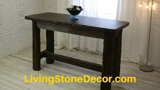 Reclaimed Wood Sofa Table - Call Now 651-401-6433