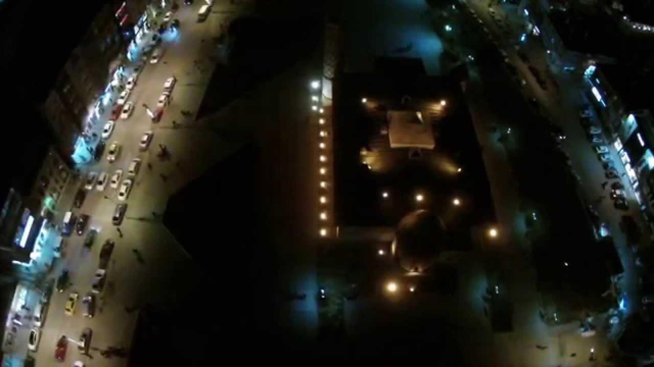 Erzurum Cadde Gece - Hava Çekimi