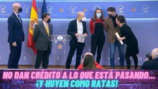RUFIÁN y sus AMIGOTES SEPARATAS SALEN por PATAS ante la BRONCA de la PRENSA por NO HABLAR en ESPAÑOL