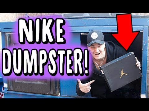 NIKE OUTLET DUMPSTER DIVING.. JORDAN RETROS FOUND!!!!!