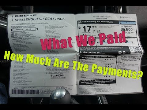 Total Price And Payments  2018 Challenger R/T Scat Pack What We Paid