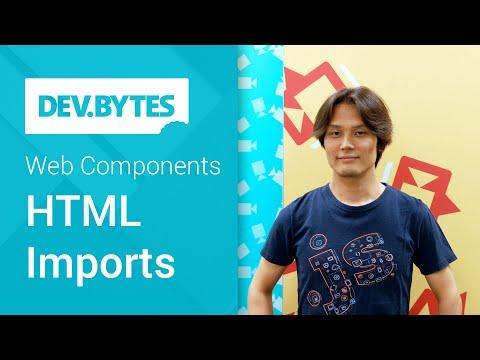 DevBytes: Web Components - HTML Imports