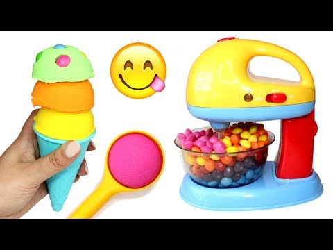 Thumbnail: How to Make Kinetic Sand Ice Cream Candy Toy Mixer Learn Colors Kinetic Sand Food Videos for Kids