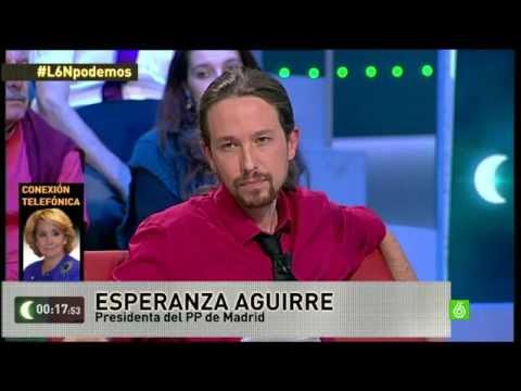 Repita conmigo... | Pablo Iglesias y Esperanza Aguirre debaten en laSexta Noche