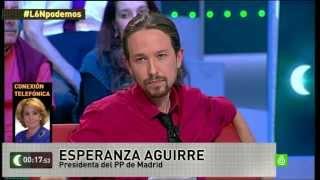 Repita conmigo... | Pablo Iglesias y Esperanza Aguirre debat...