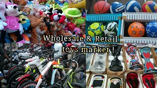 wholesale and retail toys market in mumbai   teddy bear ,fat-tier bike, hoverboard   manish market