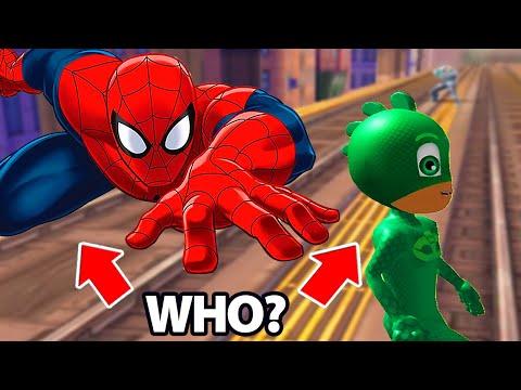 PJ Masks Gekko vs Spider Man Super Hero  