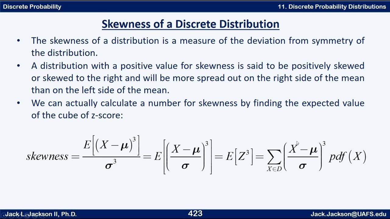 Statistics 21122 Variance And Standard Deviation Of A Discrete Distribution  Mean Variance Standard Deviation Probability Distribution