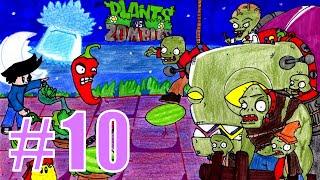 Прохождение Plants vs Zombies [Растения против Зомби] - КРЫША 6-10 на iPad