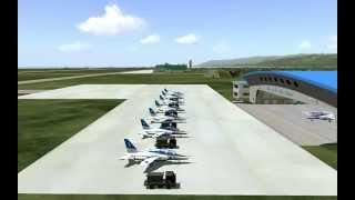 Virtual Blue Impulse VFAT2014 Bozuカメラ 日本語ナレ入り 141122