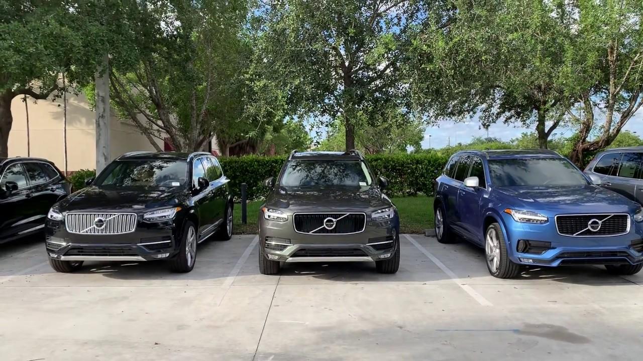 New Volvo Xc90 Trim Level Visual Comparison