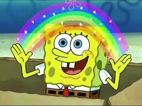 Spongebob sings The Double Rainbow Song