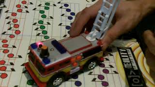 Circuit bent Toy Fire Engine by Psychiceyeclix