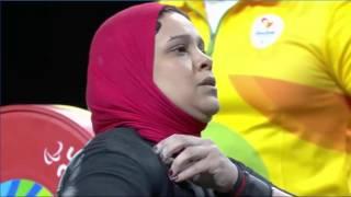 فيديو| أمل حنفي تحرز الميدالية البرونزية في رفع الأثقال ببارالمبياد ريو 2016