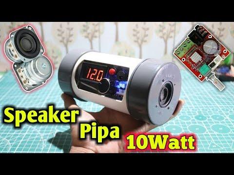 Cara membuat speaker hp bass mini sederhana 10watt dari pipa peralon speaker mini super bass