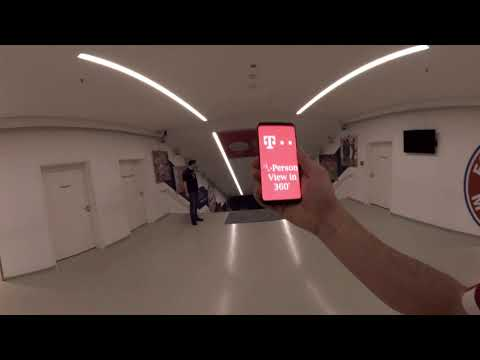 VR FirstPerson 360° View from the FCBayern Hackdays Telekom Challenge Pitch