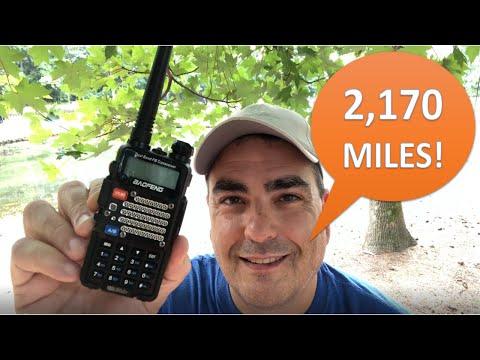 Baofeng UV-5R ham radio, talking from Atlanta to Seattle