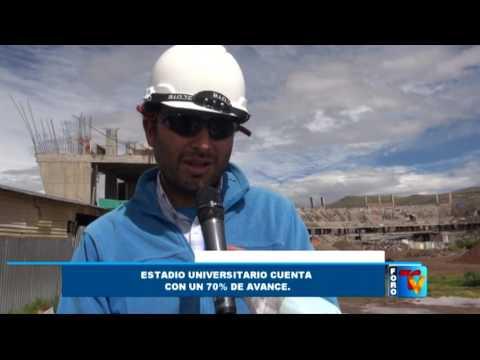 Estadio Universitario de Puno cuenta con 70 de avance