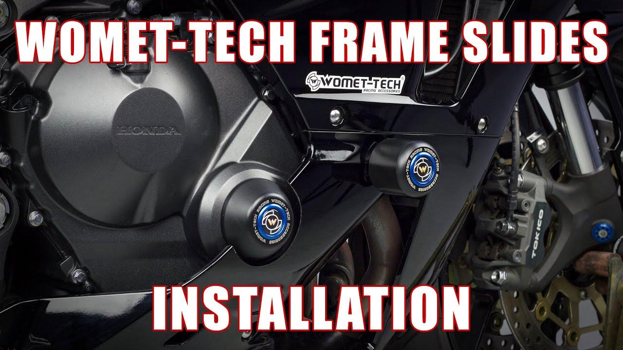 B01BW4RA7S No Cut Frame Slider Protector Compatible with 2009 2010 2011 2012 Honda Cbr 600Rr Carbon HONGK
