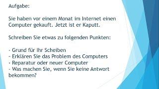 Prüfungsvorbereitung Zb2 Goethe Schreiben Aufgabe1