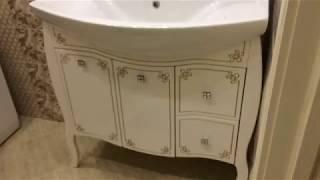 Комплект мебели АСБ-Мебель Парма 80 белый/патина золото - Обзор