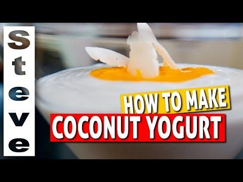 HOW TO MAKE COCONUT YOGURT - Homemade Probiotic Yogurt