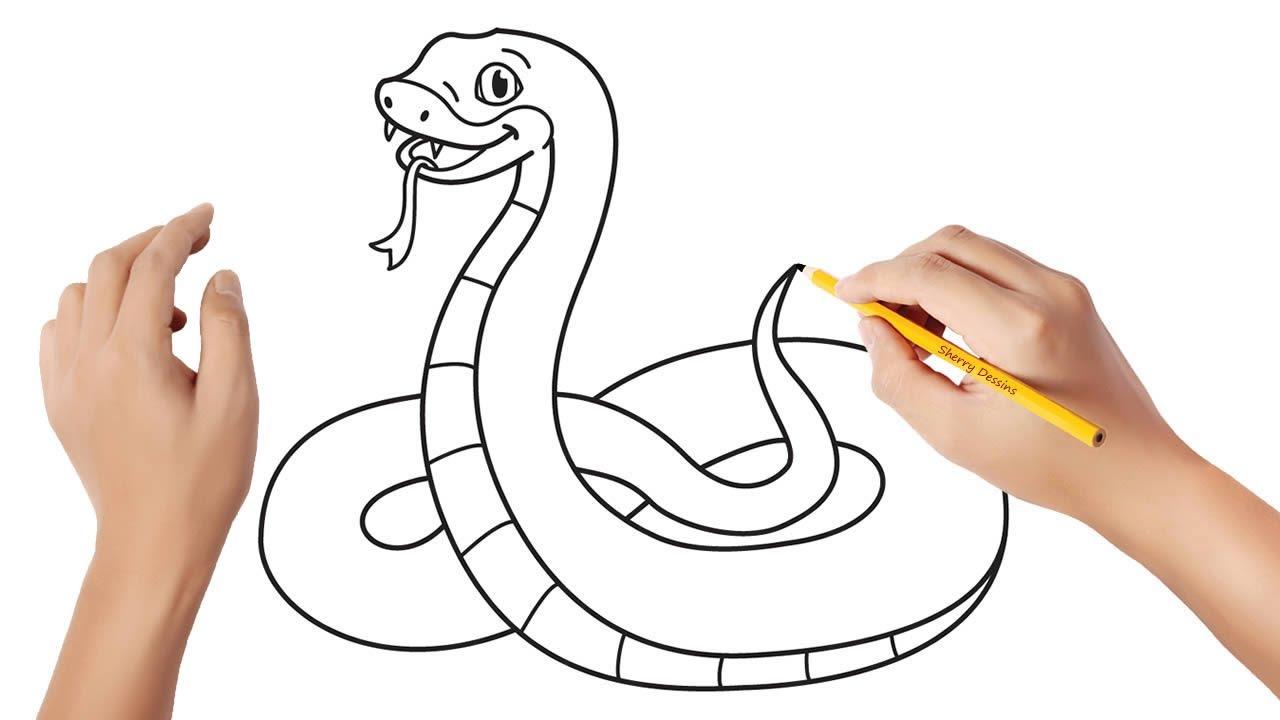 Comment Dessiner Un Serpent Youtube