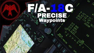 DCS F/A-18C Hornet PRECISE Waypoints and HSI features