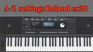 Depth Roland Ex 20 Arranger Keyboard — Totoku