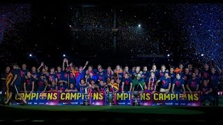 By all measures, it was a proper party to cap record season for fc barcelona. the team arrived at camp nou after majestic parade through streets of b...