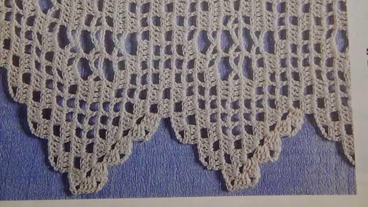 Como tejer orilla de camino de mesa a crochet con lino for Camino de mesa a crochet