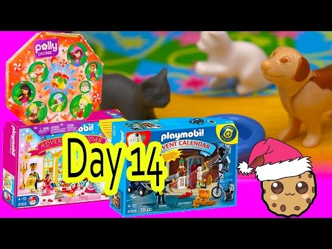 Polly Pocket, Playmobil Holiday Christmas Advent Calendar Day 14 Toy Surprise Opening Video