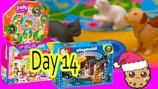 polly pocket playmobil holiday christmas advent calendar day 14 toy surprise opening video
