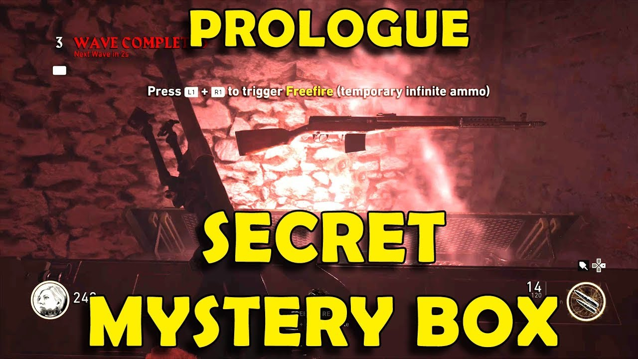 COD WW2 - How to Unlock Mystery Box in Prologue / Groesten Haus