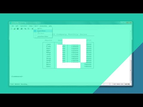 #HowTo Record a Macro When Using the Reflection Desktop Classic Interface