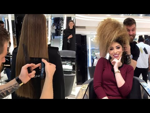 New Hairstyles Tutorial Mounir Salon 2019 | Cutting Long Hair by Professional thumbnail