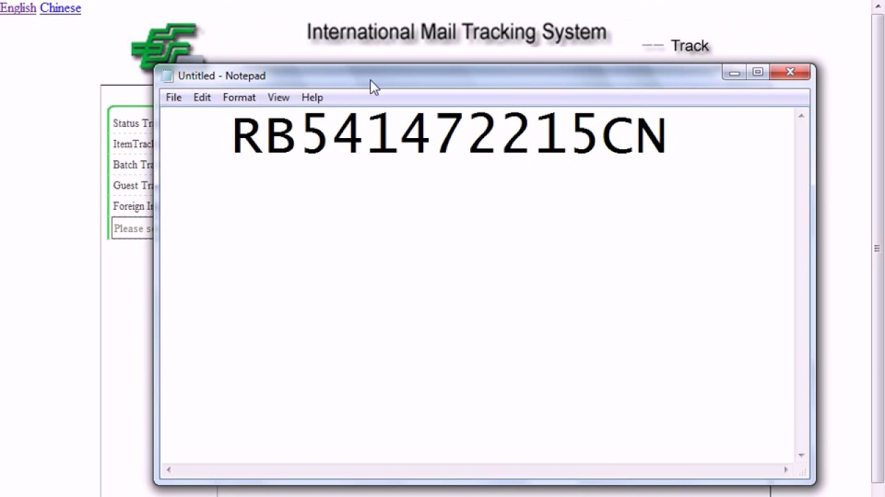 How to track China Post Mail if you bought your item on Ebay or elsewhere  YouTube 720p