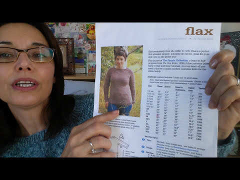Part 1 Knitting tutorial prep for the free Flax sweater for beginners