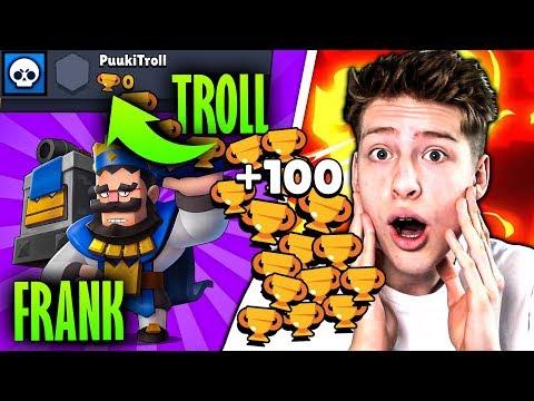 +100 POKALE mit MAXED FRANK auf 0🏆-Troll Account! • Brawl Stars deutsch