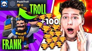 100 POKALE mit MAXED FRANK auf 0-Troll Account! o Brawl Stars deutsch
