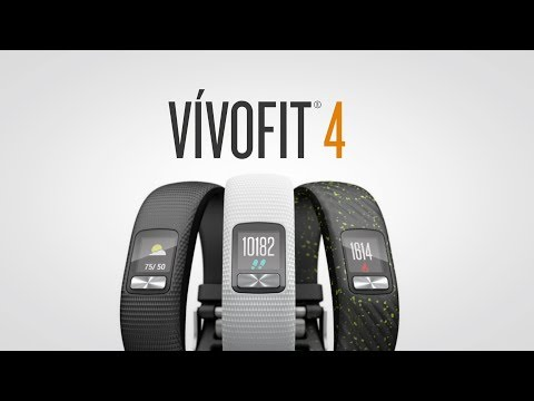 Video thumbnail for Garmin Vivofit 4 S/M White