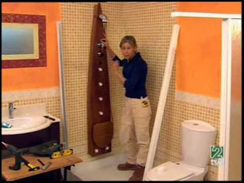 Bricolocus renovar la ducha instalar una columna y una - Instalar una mampara de ducha ...
