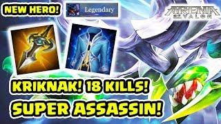 Kriknak! Hero Assassin Baru! 18 Streak! Ajegile! Kecoa Super  Power! - Arena of Valor AOV
