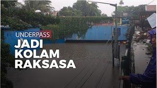 Underpass Bekasi Timur Jadi Kolam Raksasa Akibatnya Jalan Lumpuh Total