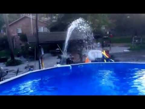 Homemade Swimming pool Fountain