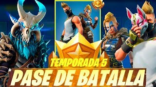 NEW SKINS SEASON 5 FORTNITE *REGALING BATTLE PASS* (TORNEO 5,000 PAVOS)