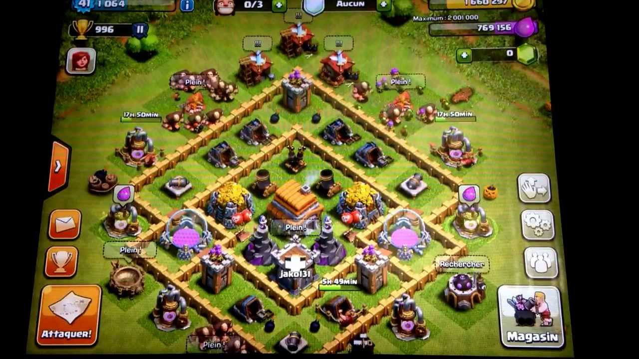 Super Clash of clans avec jako131!!!! Hotel de ville 6!!!! - YouTube KG75