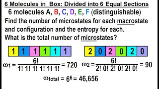 Physics 32.5 Statistical Thermodynamics (23 Of 39) 6 Molecules In A Box: Divided In 6 Equal Sections