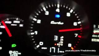 Porsche Cayenne Turbo 0-200 km/h Acceleration Sound in Tunnel