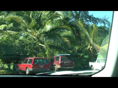 parking area at Ala Kahakai Beach, Honokohau Bay, Maui, Hawaii
